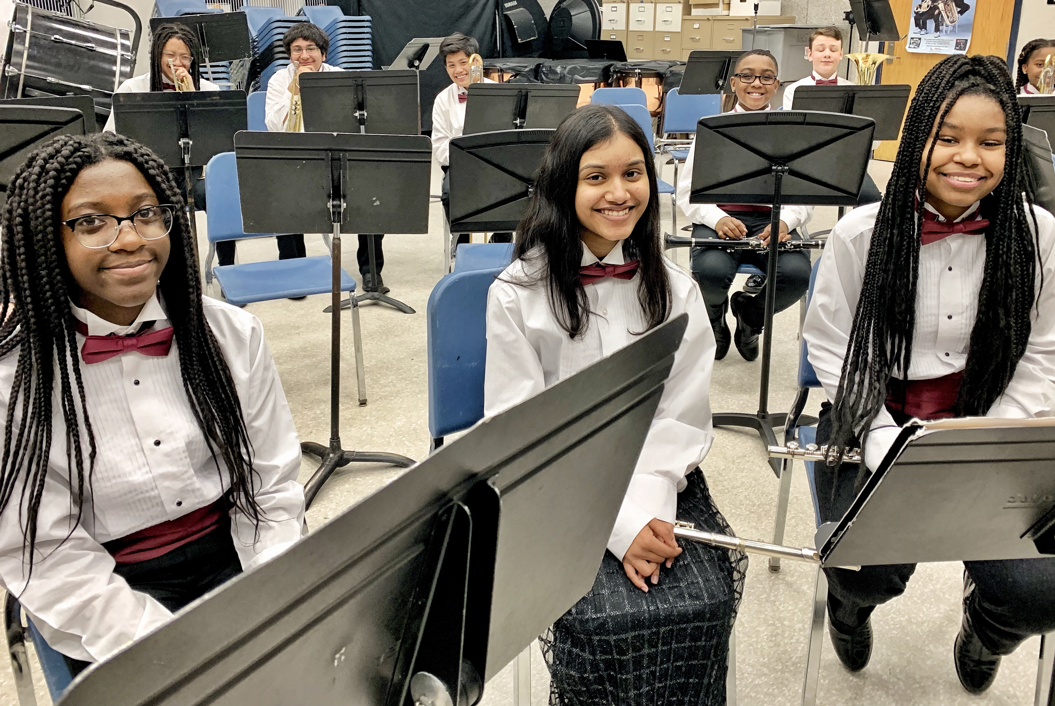 students showed music skills during the annual instrumental festival