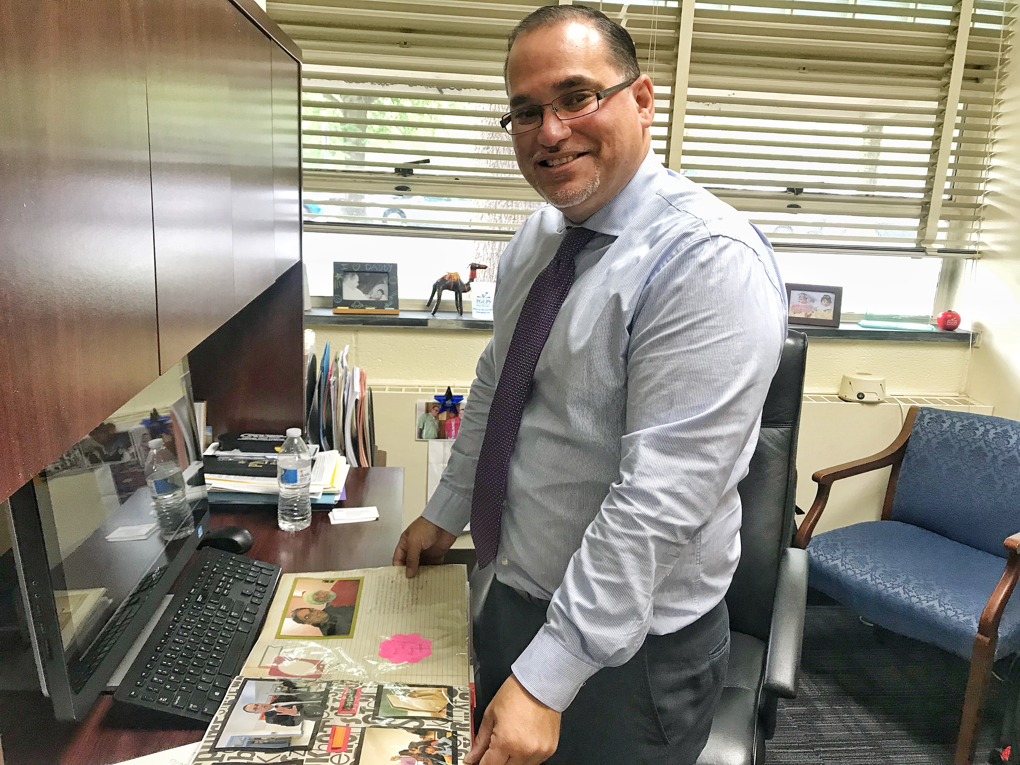 Rivera-Figueroa shares memories from his work as a teacher, assistant principal and principal. He now recruits bilingual educators to serve the growing Latino enrollment.