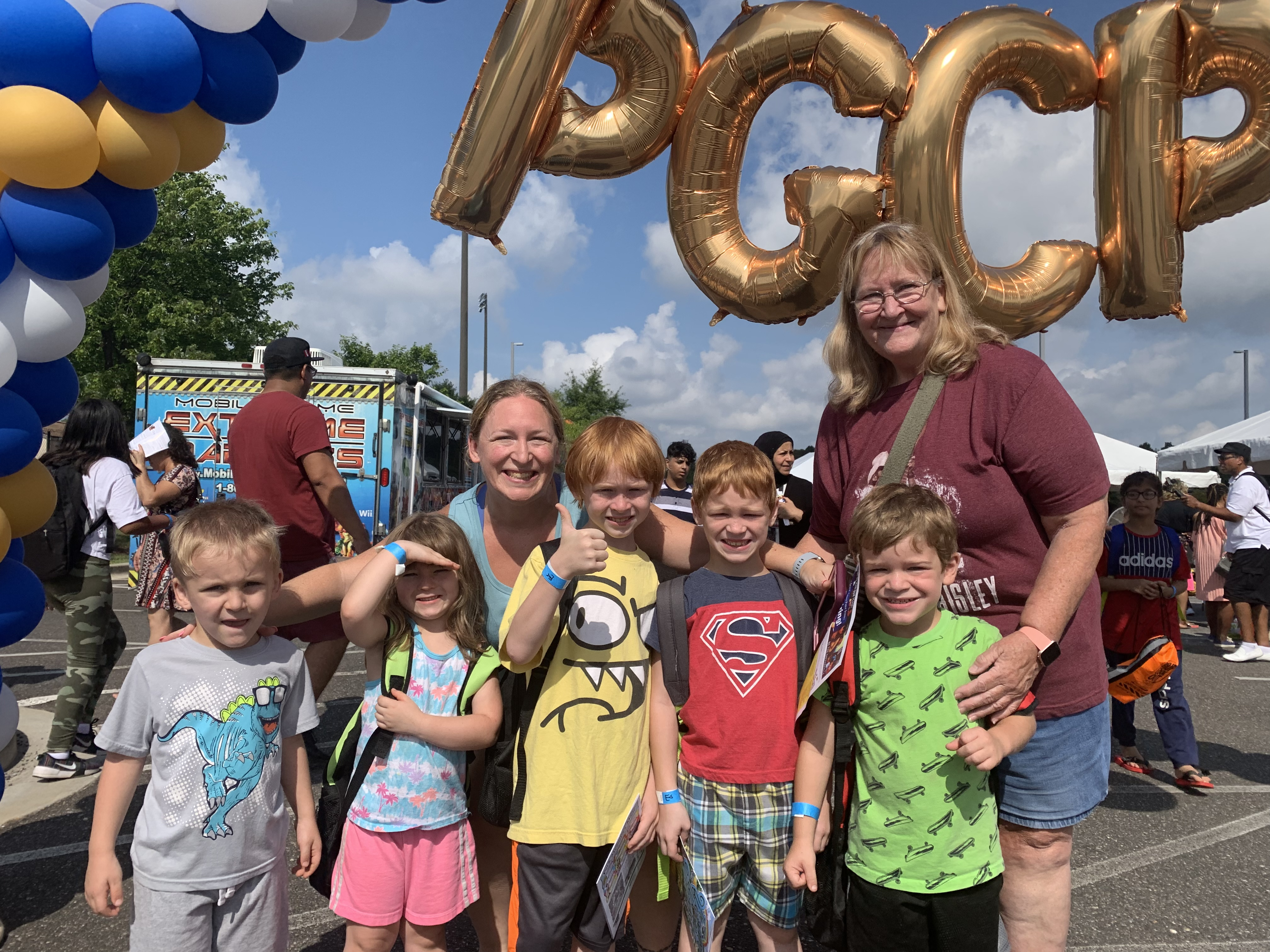 Family attending the 2019 Back to School Block Party
